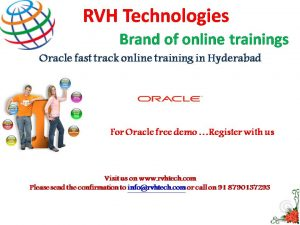 Oracle fast track training